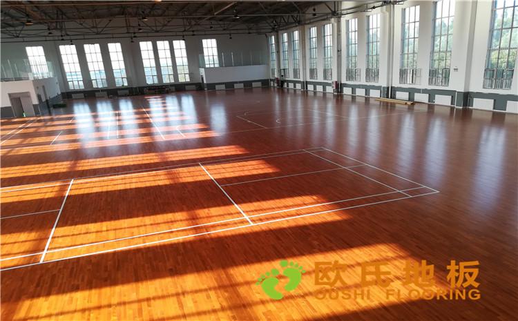 內蒙古鄂爾多斯伊金霍洛旗神東專業化服務基地體育館木地板—歐氏運動木地板廠家