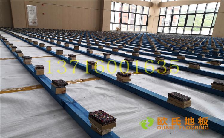 广州永顺大道铁英中学体育馆木地板案例