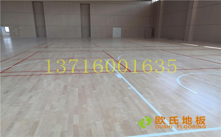 廣州永順大道鐵英中學體育館木地板案例—歐氏運動木地板廠家