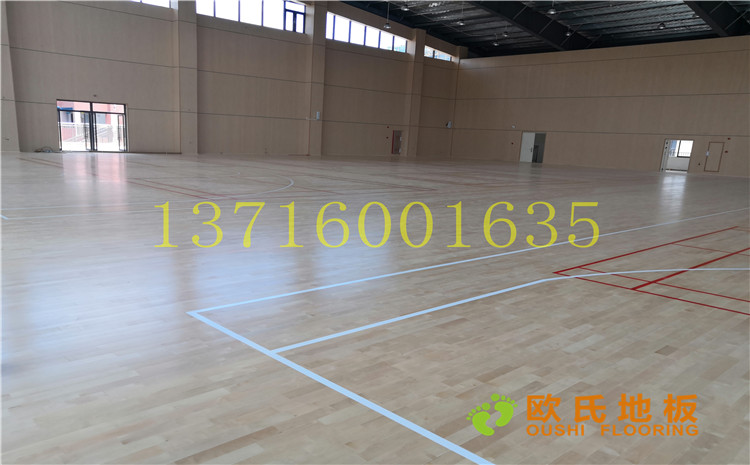 广州永顺大道铁英中学体育馆木地板案例—欧氏运动木地板厂家