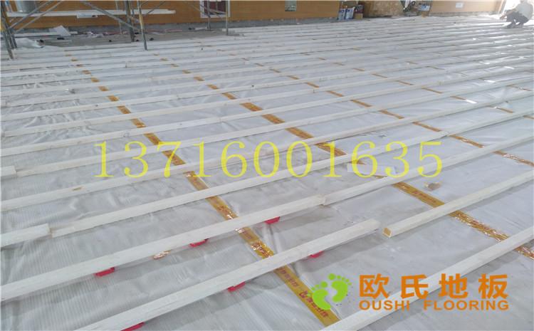 江苏盐城西环路小学体育馆木地板案例
