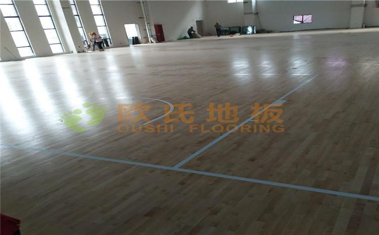 冮苏宿迁项里学校篮球馆木地板案例—欧氏运动木地板厂家