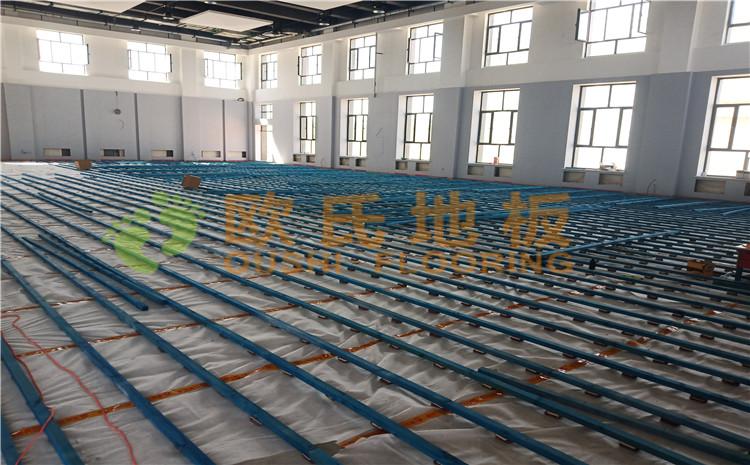 新疆沙雅縣順北油田籃球館木地板案例