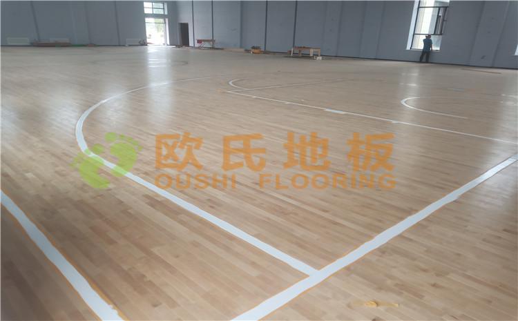 新疆沙雅县顺北油田篮球馆木地板案例—欧氏送彩金38满100提现厂家