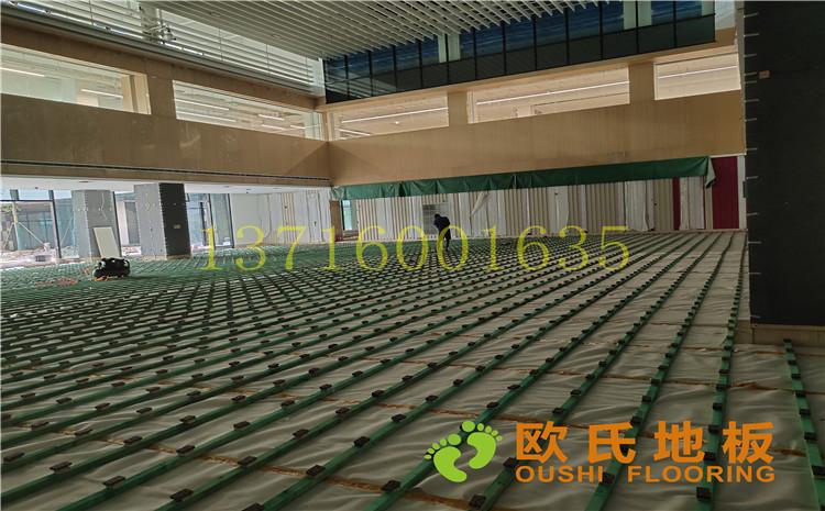 杭州26號地塊商務金融籃球場木地板案例