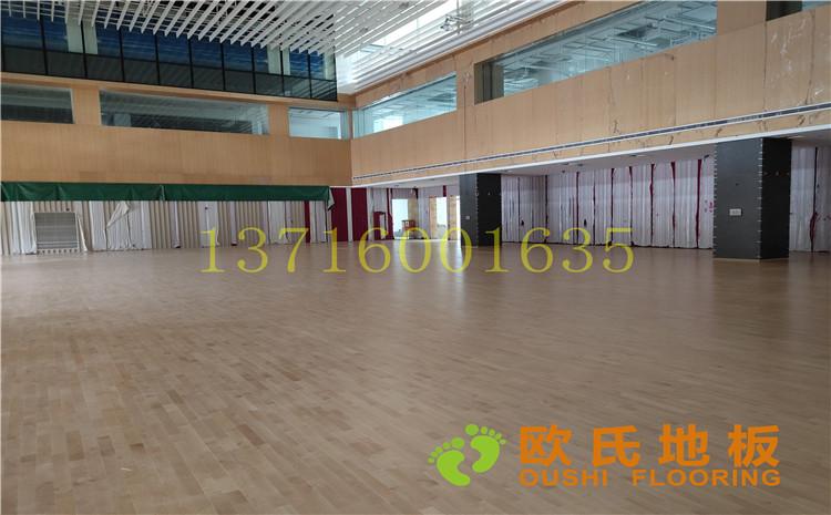 杭州26号地块商务金融篮球场木地板案例-欧氏运动木地板厂家