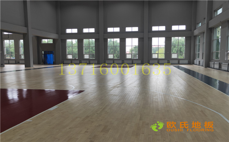 沈阳于洪机场体育馆木地板案例-欧氏篮球场木地板厂家